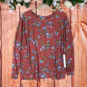 NWT Caslon Floral French Terry Soft Sweater 1599
